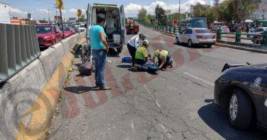 Dos accidentes viales en Toluca provocan caos y dejan lesionados