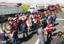 Tianguistas de Temoaya bloquean carreteras; demandan permisos y claridad de un proyecto