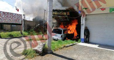 Reparaba su camioneta y se incendió; sin heridos