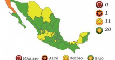 Luz verde para 20 entidades mexicanas; ninguna en rojo