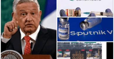 AMLO pide a la OMS autorizar vacunas CanSino y Sputnik tras reabrir su frontera con EU