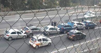 Choque en la México-Toluca provoca tráfico en la zona