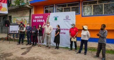 Zinacantepec continúa rehabilitación de la calle Altamirano