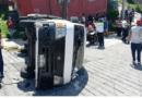 Seis lesionados deja volcadura de transporte escolar en Tlalnepantla; 4 son menores