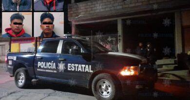 Atrapan en Xonacatlán a cuatro sujetos en taller de desvalijamiento de vehículos
